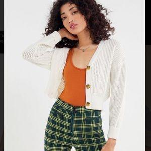 UO Ada Waffle Knit Cardigan